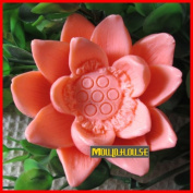 Pinkie Tm Lotus Flower silicone soap mould form for soap Clay mould Salt carving mould wholesale