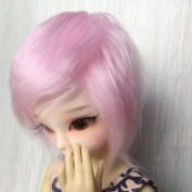 """7-8"""" (18-19CM) BJD Water Pink Doll Hair Wig For 1/4 LUTS-KID MSD DOC LATI-BLUE DZ Fur and Feather Hair"""