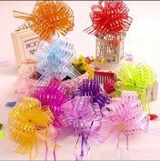 AUCH Elegant Beautiful Festival Assorted Colours Crystal Yarn Pull Bows/Christmas Gift/Basket Knot with Ribbon Strings to Wrap the Box or Floral Decoration,Set of 9