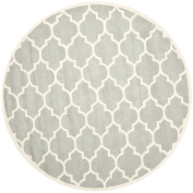 Safavieh Chatham Collection CHT734E Handmade Grey and Ivory Premium Wool Round Area Rug