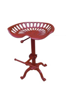 NACH JS-93-800R Adjustable Tractor Seat Stool, Red