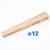 SODIAL(R)Summer Vintage Folding Bamboo Wooden Carved Hand Fan Wedding Bridal Party