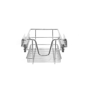 KuKoo 2 x Kitchen Pull Out Baskets, 300mm Wide Cabinet, Soft Close Wire Storage Metal Drawers