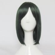 D.Grey-man Lenalee Lee Dark Green 35cm Short Cosplay Costume Wig