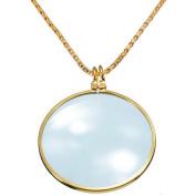 Fheaven 6x Magnifier Pendant Necklace Magnify Glass Reeding Decorativ Monocle Necklace