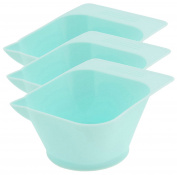 Icarus Blue Tint Bowl with Rubber Grip Bottom - 3 ct