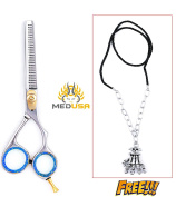 Professional 15cm High Quality Japanese Stainless Steel Barber Hair Thinning / Texturizing Scissor With Neck Chain
