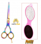 Professional 15cm High Quality Japanese Stainless Steel Barber Razor Edge Hair Cutting Shear Scissor With Free Foot File