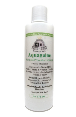 Aquagaine Premium Hair Loss Prevention / Restoration Shampoo with Organic Rosemary & Lavender Oil, Natural DHT Blockers and Biotin for Hair Growth – Sulphate Free, For Men & Women, 240ml