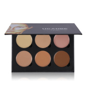HUBEE 6 Colours Beauty Concealer Palette Face Eyeshadow Makeup Contour Cream Corrector