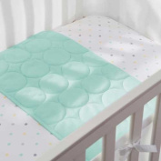 Soft, Breathable Wick Dry Plush Sheet Saver in Aqua Mist