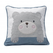 Happi By Dena Lambs & Ivy Little Llama Bear Decorative Pillow, Grey/Blue