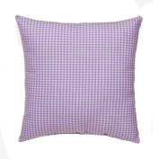 Glenna Jean Cottage Collection Sweet Pea Pillow, Purple gingham