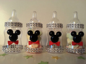 12 Mickey Mouse Fillable Bottles Baby Shower Favours Prizes Game Boy Decorations