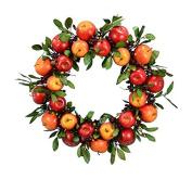 Fantastic Craft Apple Wreath, 60cm , Red