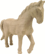 Decopatch Small Mache Horse, Brown