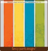 Fancy Pants - Creative Expressions - Transparency Overlays Vertical Jump 12 Pack