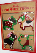 Holiday Gift Tags Dog Theme Scotties Boston Terrier