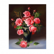 Starlit 71322 - Red Rose DIY Diamond Painting Rhinestone Embroidery Kit Size 50x61 cm