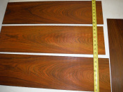 8 pieces of sanded bookmatched cocobolo veneer 0.3cm thick, guitar wood