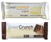 Bionutritional Power Crunch lPXpJzt Protein Energy Bars French Vanilla Crème/Triple Chocolate, 6 of each