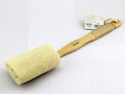 Natural Exfoliating Loofah Scrubber Brush with Long Wooden Handle