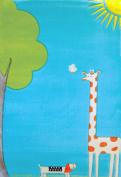 IVI Giraffe Turquoise Children's Rug
