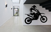 Wall Decal Sticker Bedroom sport dirt bike motorcycle kids boys teenager room 257b