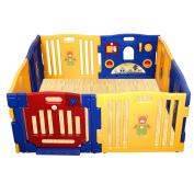 Costzon Baby Play Pen Kids Safety Playpen Activity Centre with Floor Foam Mat