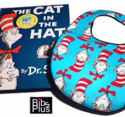 Dr Suess Handcrafted Triple Layer Baby Bib and Cat in Hat Book
