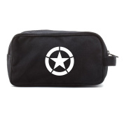 World War 2 Military Jeep Star Dual Two Compartment Travel Toiletry Dopp Kit Bag
