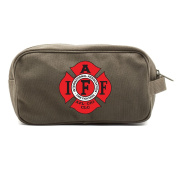International Association of Fire Fighters Dual Two Compartment Toiletry Kit