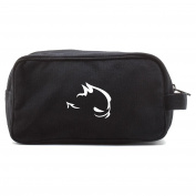 GTI Devil Canvas Dual Two Compartment Travel Toiletry Dopp Kit Bag