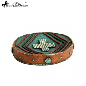 RSM-1882 Montana West Letaher-Like Aztec Design Turquoise Colour Resin Soap Dish