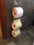 Toilet Paper Holder for Extra Storage Saves Space with a Pretty Design