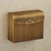 LINA@ European antique brass Quartet waterproof bathroom toilet paper tray