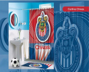 Oficial Shower Curtain Chivas Red with Blue
