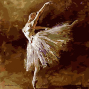 Adarl DIY Painting Digital Oil Painting By Numbers Image Drawing On Canvas By Hand Colouring Ballet