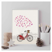 FTXJ Novelty Wedding Guest Fingerprint Canvas Painting Party Supply Decoration with Ink