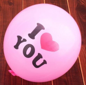 PETMALL 20pcs 30cm Pearl Latex Balloon I LOVE YOU Balloons Christmas gifts Wedding Decorations Pink OFFICE-727