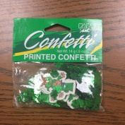 St. Patrick's Day Printed Confetti with foil Shamrocks