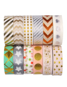 SUNNYTREE Washi Masking Tape For Arts & Crafts Washi Tape Set of 12 Rolls Pattern