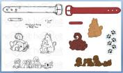 Heartfelt Creations Bundle Dies+Stamps Pampered Pooch Pals HCD1-7115+HCPC3759