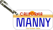 Personalised California Sun Zipper Pull State Licence Plate Replica