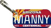 Personalised Arizona Centennial Zipper Pull State Licence Plate Replica