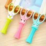 3pc Magic Rabbit Children Scissors Multipurpose Office Scissors Stainless Steel Scissors Student DIY Paper Cutting Knife by Fascola