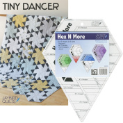 Bundle of Jaybird Quilts Tiny Dancer Quilt Pattern and Hex N More Ruler, 5 Finished Size Quilt Options