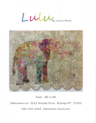 Lulu Elephant Collage Wall Hanging Quilt Pattern by Fiberworks