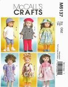 McCall's 6137 46cm Girl Doll Clothes Pattern American Baseball Uniform Beret supplier_paulastreasuredfinds