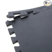 IncStores High Density Gym Foam Tiles - 1.9cm or 1cm Textured For High Intensity Workouts And Exercise